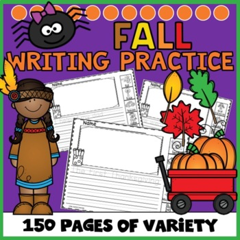 Fall Writing with Picture Word Boxes
