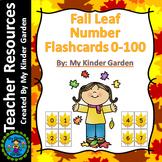 Fall Leaf Number Flashcards 0-100