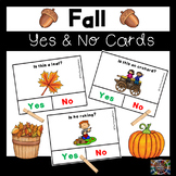 Fall Yes and No Question Cards