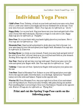 Fall Yoga Themed Lesson Plan