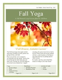 Fall Yoga Themed Lesson Plan