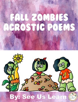 Fall Zombies Acrostic Poems