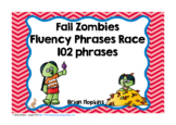 Fall Zombies Sight Word Fluency Phrases Race