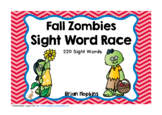 Fall Zombies Sight Word Race