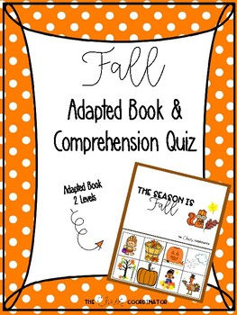 Fall adapted book for students with special needs