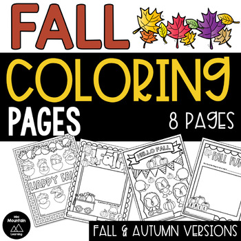 Fall and Autumn Coloring