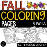 Fall and Autumn Coloring Pages