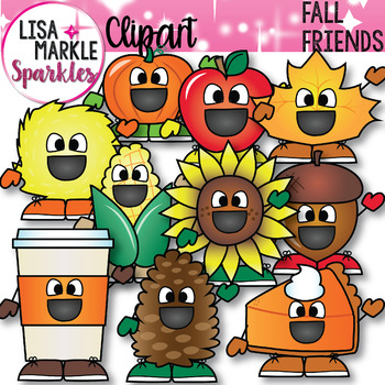 Fall and Autumn Friends Clipart