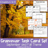 Fall and Autumn Grammar Task Cards