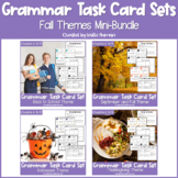 Fall and Autumn Grammar Task Cards BUNDLE