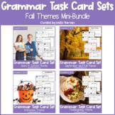 Fall and Autumn Grammar Task Cards BUNDLE