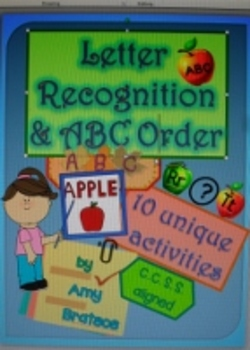 Fall and Autumn Letter Recognition and ABC Order Emergent Reader Activities