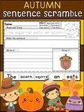 Fall and Autumn Sentence Scramble Worksheets