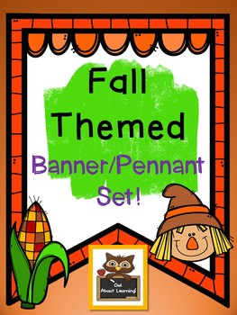 Fall and Autumn Themed Alphabet Banner & Pennant Set!