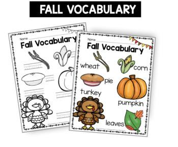 Fall and Autumn Unit - Slideshow - Senses - Centers - Mini Books - Thanksgiving