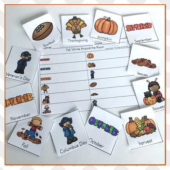 Fall and Autumn Vocabulary Practice - Write The Room