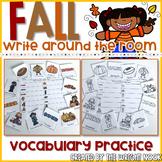 Fall Vocabulary Write The Room
