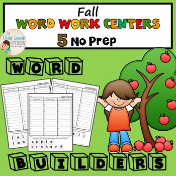 Fall and Autumn Word Work Centers