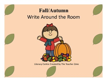Fall and Autumn Write Around the Room Literacy Center