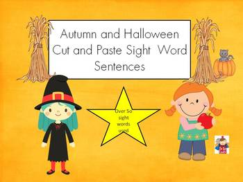Sight Word Sentences - fall and back to school