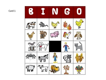 Fine Motor Fall and Farm Bingo Game Kit with handwriting activity