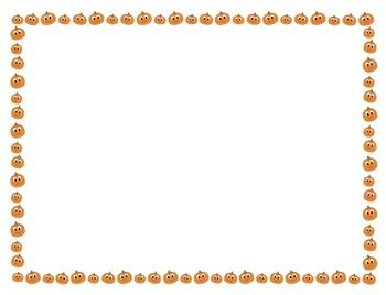 Fall and Halloween Borders - FREEBIE