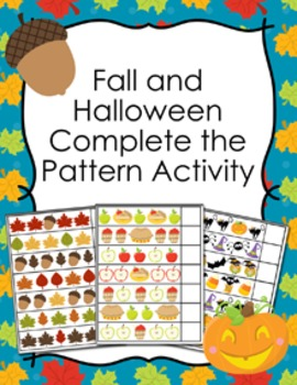 Fall and Halloween Complete the Pattern Activity