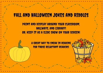Fall and Halloween Jokes and Riddles Printable