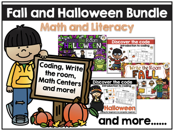 Fall and Halloween Math and literacy Bundle