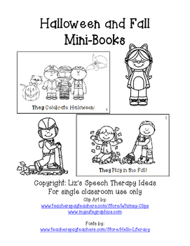 Fall and Halloween Mini books for Pronouns and Gender