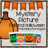 Halloween and Fall Multiplication Mystery Picture