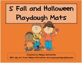 Fall and Halloween Playdough Mats