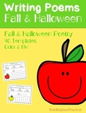 Fall and Halloween Poetry Pack: Acrostic, Cinquain, Haiku, and Shape/Concrete