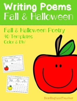 Fall and Halloween Poetry Pack: Acrostic, Cinquain, Haiku,
