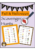 Fall and Halloween Scavenger Hunt FREEBIE
