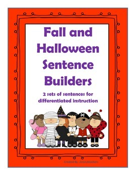 Fall and Halloween Sentence Builders