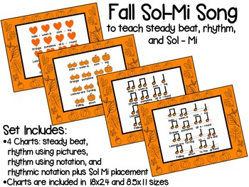 Fall and Halloween Sol-Mi Chant Song with Steady Beat, Rhythm, and Sol-Mi Charts
