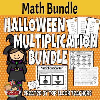 Fall and Halloween Theme Multiplication Bundle