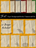 Fall and Halloween Themed Digital Paper Pack