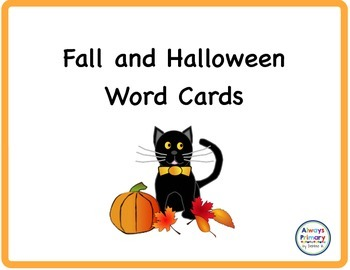 Fall and Halloween Word Cards