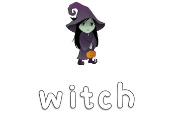 Fall and Halloween Word Spell