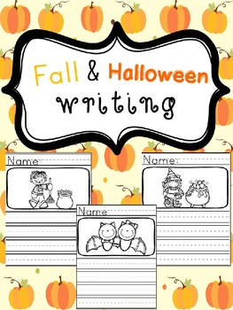 Fall and Halloween Writing- Picture Prompts