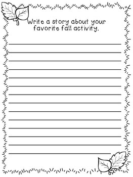 Fall and Halloween Writing Prompts