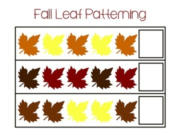 Fall and Leaf Themed Math Printables