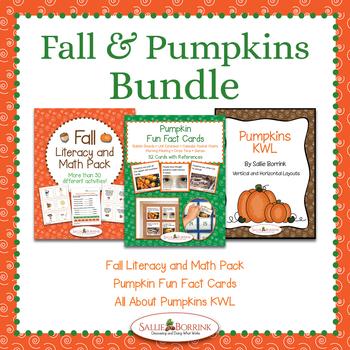 Fall and Pumpkins BUNDLE for Kindergarten and First Grade