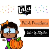 Fall and Pumpkins Color by Rhythm - Musical Coloring Sheets
