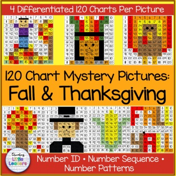 Thanksgiving 120 Chart Math Mystery Pictures