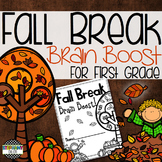 Fall and Thanksgiving Break Brain Boost for First Grade!