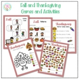 Fall and Thanksgiving Games and Activities Printables