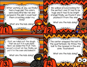 Fall and Thanksgiving Inference Task Cards
